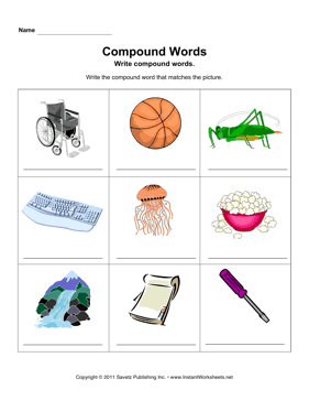 Compound Words Pictures