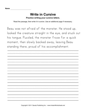 cursive writing practice for adults