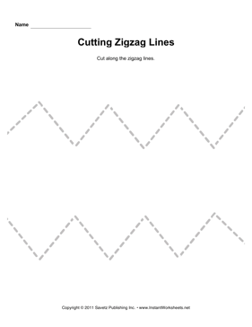 Cutting Zigzag Lines