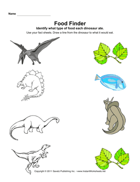 dinosaur food finder. Black Bedroom Furniture Sets. Home Design Ideas