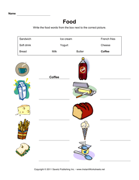ESL Food Vocabulary 1