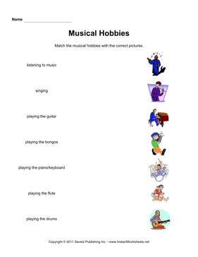 ESL Hobbies Music