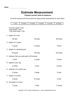 Estimate Measurement