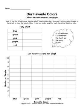 graphing column and pie graphs worksheet pdf