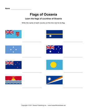 Flags Oceania 1