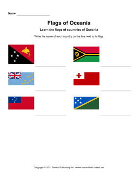 Flags Oceania 2