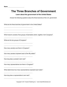 Government Three Branches 1