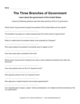 Government Three Branches 2