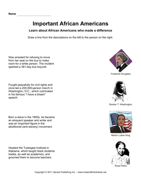Important African Americans Draw Lines