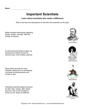 Important Scientists Draw Lines