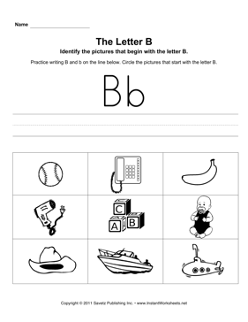 Letter B Pictures