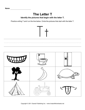 Letter T Pictures