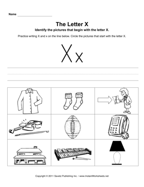 Letter X Pictures