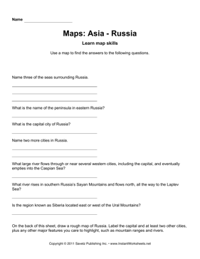 Maps Asia Russia Facts