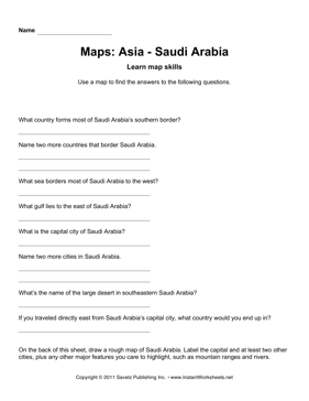 Maps Asia Saudi  Arabia Facts