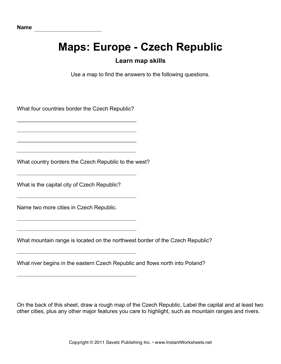 Maps Europe Czech Republic Facts