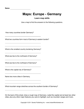 Maps Europe Germany Facts