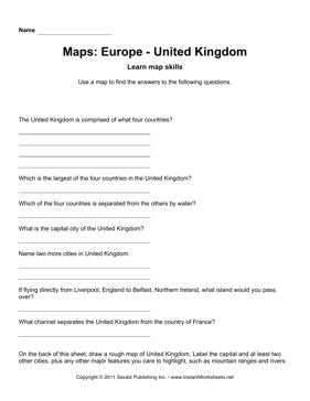 Maps Europe United Kingdom Facts