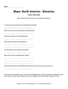 Maps North America Bahamas Facts