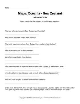 Maps Oceania New Zealand Facts