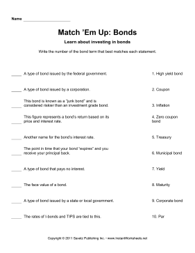 Match Em Up Bonds