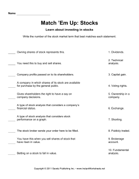 Match Em Up Stocks