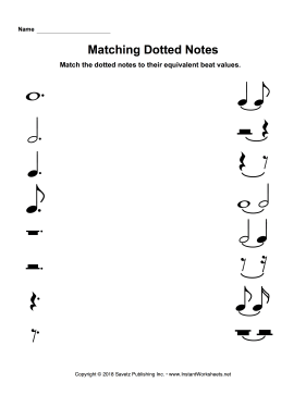 Matching Dotted Notes