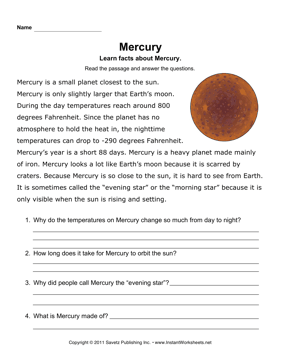 Mercury Comprehension