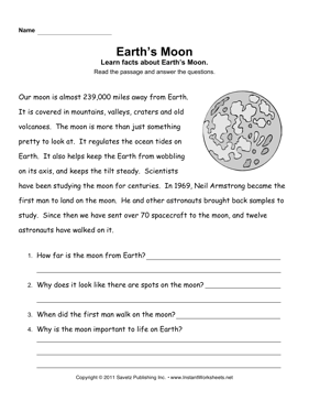 planets and their moons worksheets - photo #13