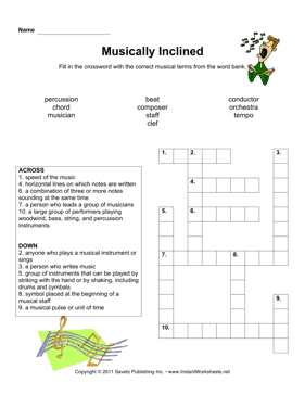 Musical Crossword