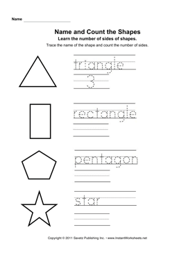 Name Count Shapes