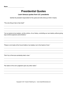 Presidential Quotes 1