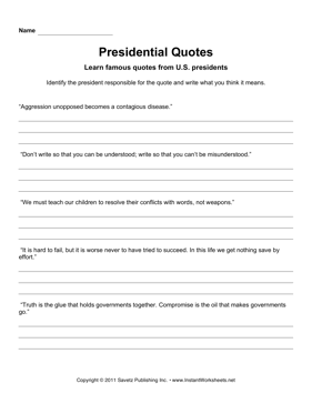Presidential Quotes 4