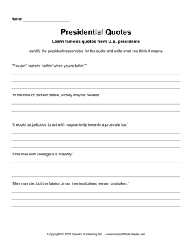 Presidential Quotes 6