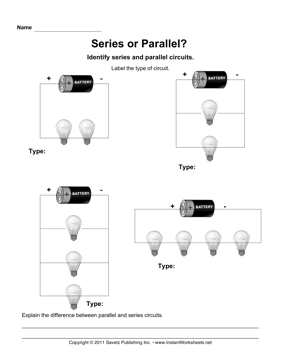 Printables Circuit Worksheets series parallel circuits instant worksheets circuits