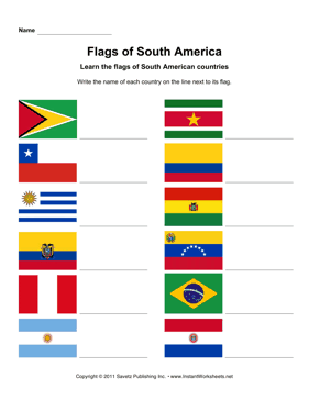math worksheet : south american flags  instant worksheets : Fraction Flags Worksheet