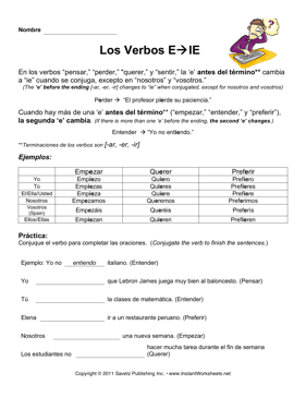 Spanish E-IE Verbs
