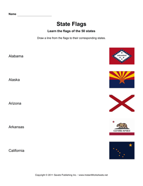 State Flags AL CA