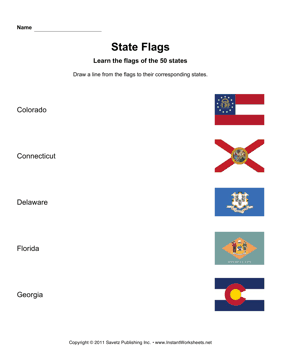 State Flags CO GA