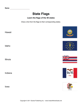 State Flags HI IA
