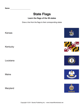 State Flags KS MD