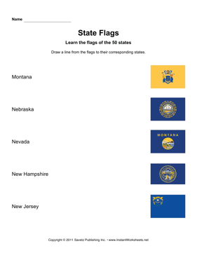State Flags MT NJ