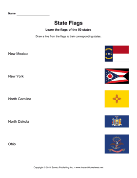 State Flags NM OH