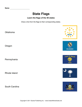 State Flags OK SC