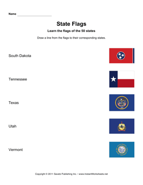 State Flags SD VT
