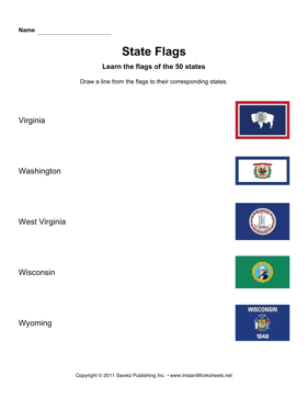 State Flags VA WY