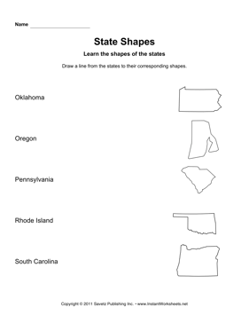 States Shapes Lines OK SC