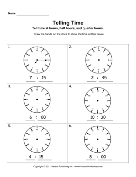Telling Time 3