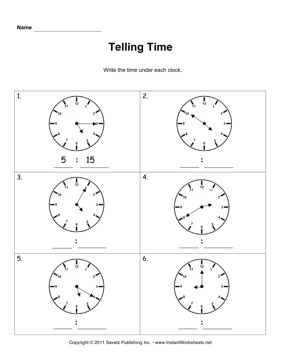 Telling Time 4