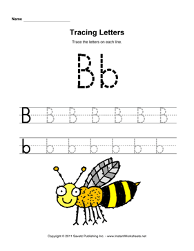 Tracing Letters B